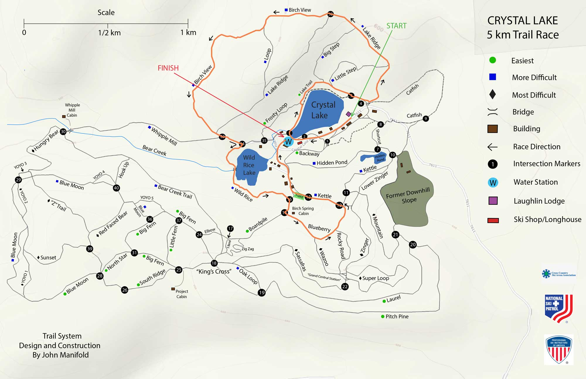 5K Trail Map